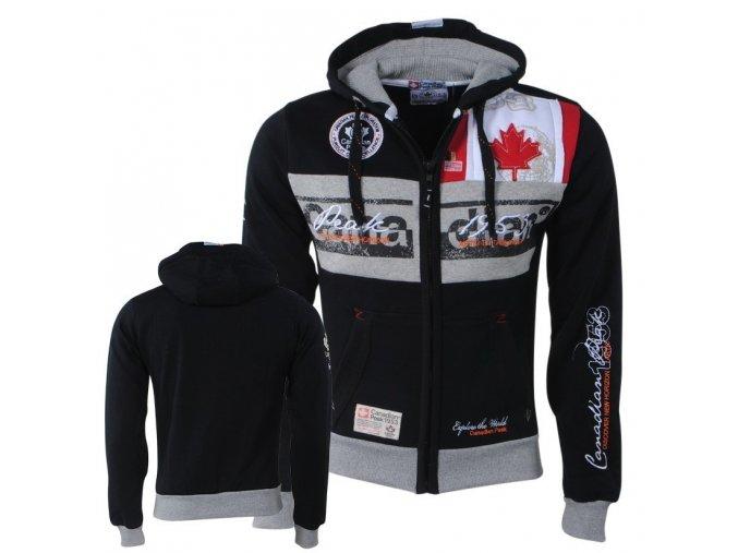 bv 2155 canadian peak trendy heren vest capuchon face zwart moda italia fashion 1