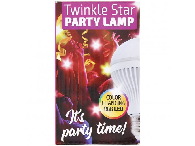 Party lamp Twinkle Star / party LED žárovka
