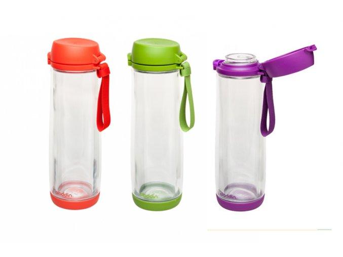 Aladdin láhev na vodu skleněná 0,53l (Láhev sklo + plast 530 ml)