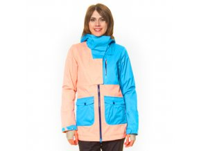 oneill damen ski snowboardjacke and quotkarma and quot in lachs t and uumlrkis wattierung pri 3026 500x500