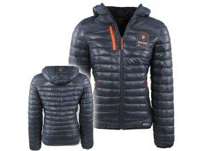 hwj 1077 geographical norway heren gewatteerde jas capuchon barda donker grijs moda italia fashion 1