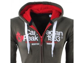 bv 3449 canadian peak heren vest capuchon sweat flury kaki moda italia fashion 3