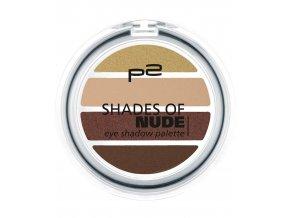 p2 Cosmetics / Shades of Nude eye shadow palette / Barevné oční stíny