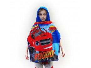 Osuška s kapucí / ručník pončo - auto Blaze 55 x 110 cm
