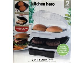 Kitchen Hero 3 in 1 / Burger Grill + ohřívač + zapékač