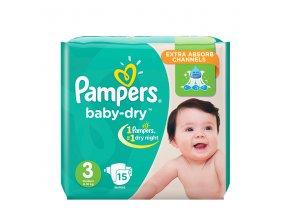 Pampers Active Baby Dry 3 / Pleny Midi (6-10 kg) 15ks