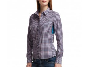 icebreaker wmns terra ls plaid shore grapefruit 31