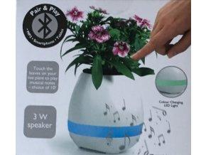 Květináč s vestavěným reproduktorem Bluetooth