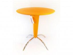 Kulatý stolek Bontempi - chrom - oranžová