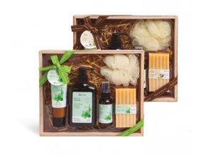 IDC Institute Box Pure & Natural body treatment koupel + mléko + sprej 5ks